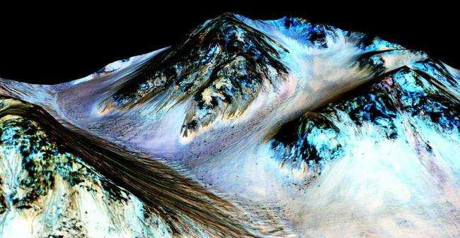 Sós folyóvíz van a Marson!