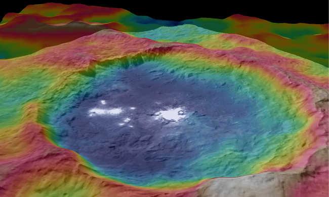 Fagyott víz van a Ceres törpebolygón