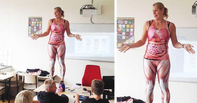 Izompólóra vetkőzött a tanár, hogy lássák a testét