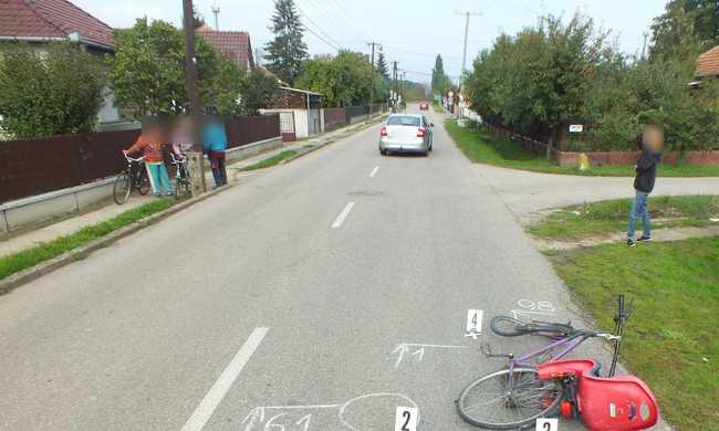 Biciklist ütött el és továbbhajtott