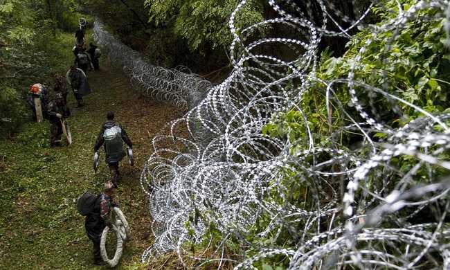Pengésdrót a szlovén határon