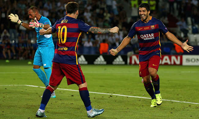Messi érdekes ajándékot kapott Suáreztől