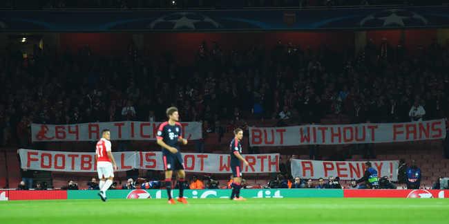 Bayern szurkolók tüntettek a magas angol jegyárak ellen
