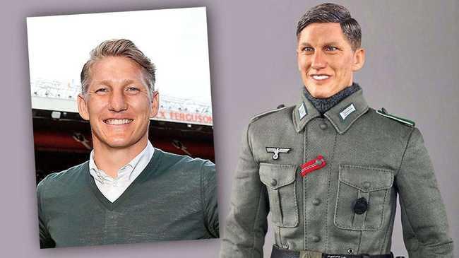 Náci katonát mintáztak a híres focistáról