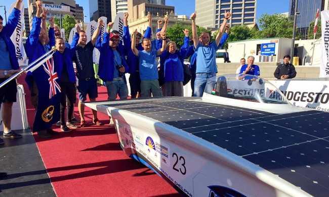 Hetedikként ért célba a magyar napelemes autó