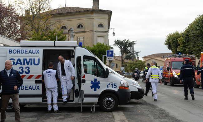 A legfrissebb fotók a francia buszbalesetről