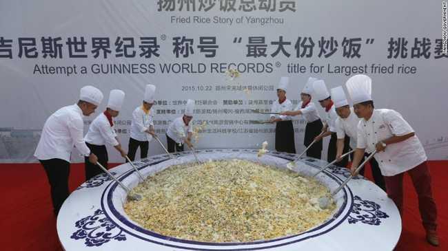 A kínai Guinness-rekord kísérletet a disznók ették meg