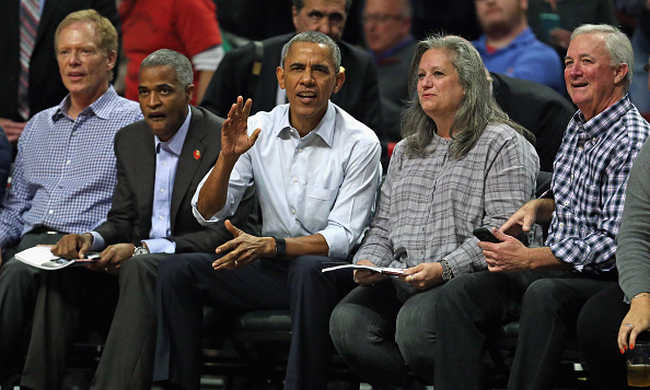 NBA-meccsre ment Obama, nyert is a csapat
