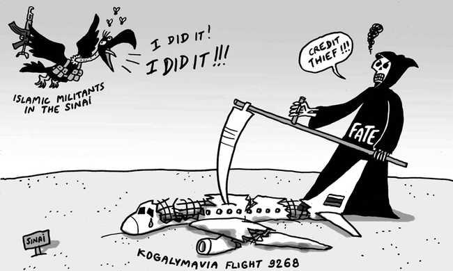 Karikatúrával viccelődtek a repülőgép-tragédián