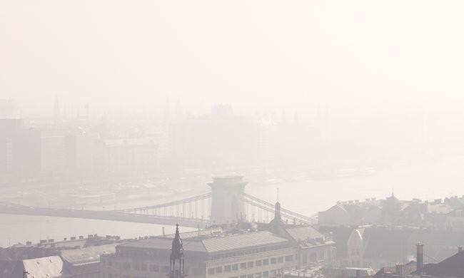 Fotók a szmogban fuldokló Budapestről - galéria
