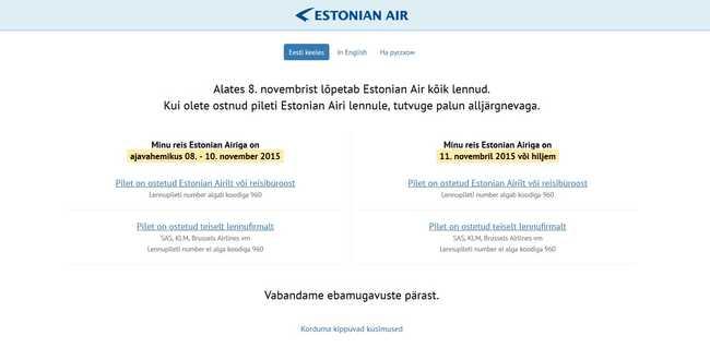 Csődöt jelentett az észt nemzeti légitársaság
