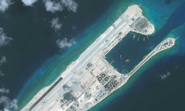 Amerikai bombázó repült át kínai szigetek fölött