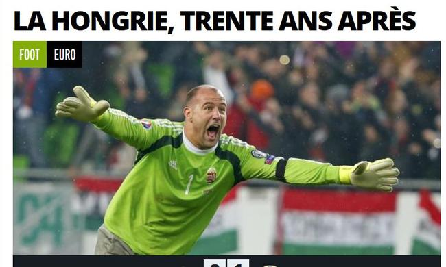 A magyar futballsiker a világ egyik legnagyobb sportlapjának címlapján!