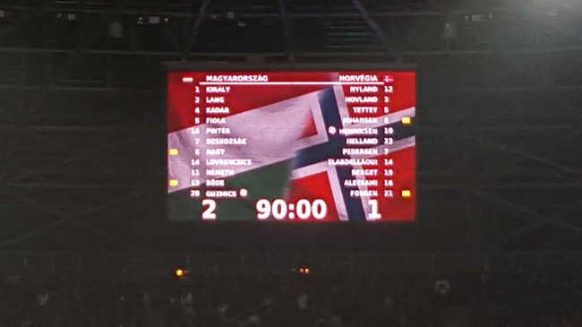 Magyarország-Norvégia 2-1 - percről percre