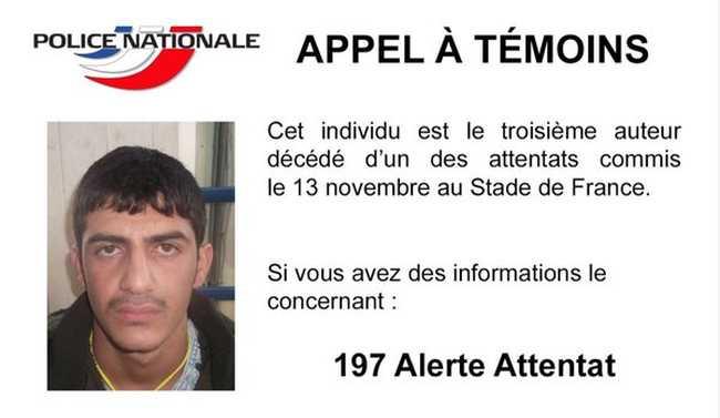 Itt a francia rendőrség fényképe a harmadik stadionrobbantó terroristáról