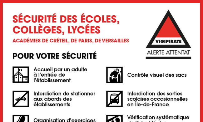Átvizsgálják a diákok táskáit a francia iskolákban