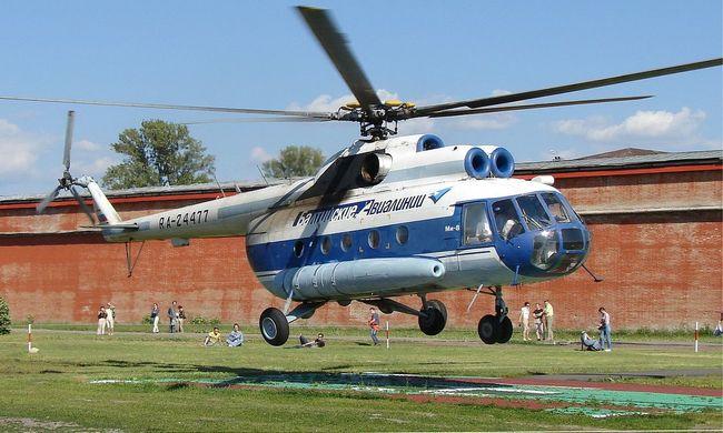 Lezuhant egy helikopter Oroszországban