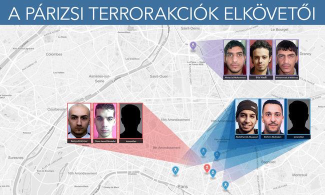 Párizsi terror: menekülnek a terroristák, maradt a terrorveszély
