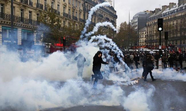 Több mint 200 embert tartóztattak le Párizsban