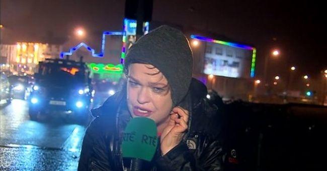 A hatalmas viharból bejelentkező riporternő az internet új hőse - videó