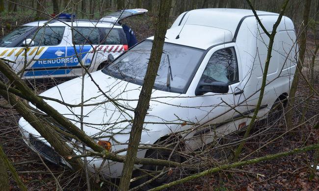Fának csapódott a menekülő autótolvaj