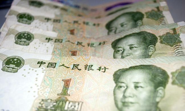 Visszaesett a kínai jüan a legtöbbet használt fizetőeszközök listáján
