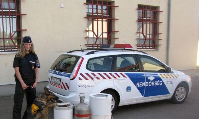 Betörőt fogott a rendőrkutya