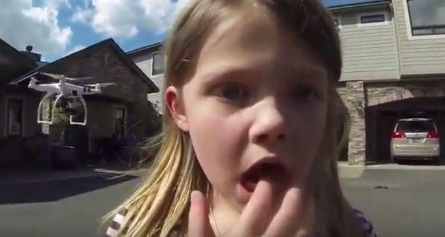 Drónnal húzta ki a kislánya fogát