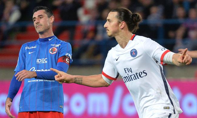 Óriási Ibrahimovic gól is kellett a PSG rekordjához - videó