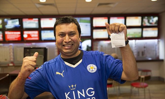 Fogadott, hogy a Leicester vezeti a bajnokságot - több milliót nyert