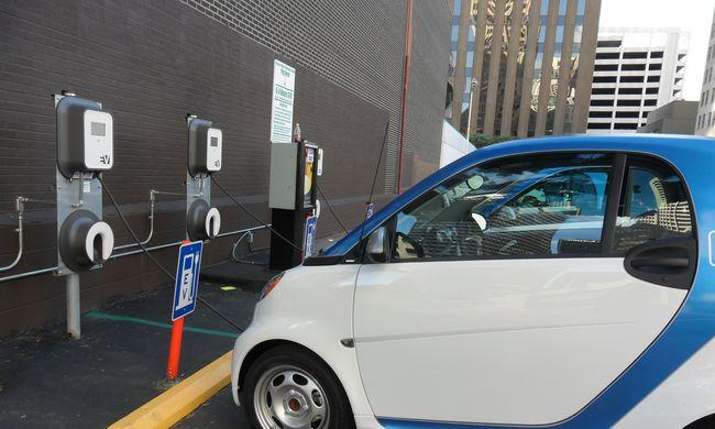Minden nagy parkolóban lehet majd elektromos autót tölteni
