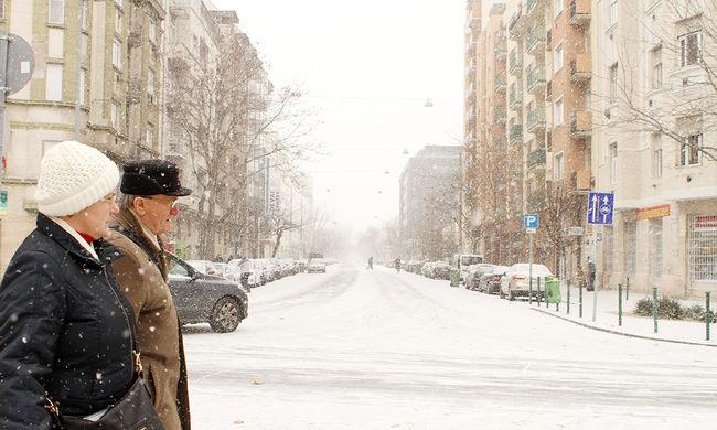 Szinte mindenhol havazik már az országban - videó és képgaléria