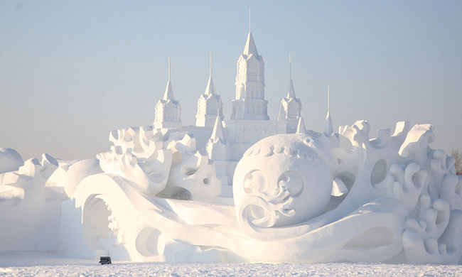 Jégkastély és jeges vidámpark is van a legnagyobb hófesztiválon