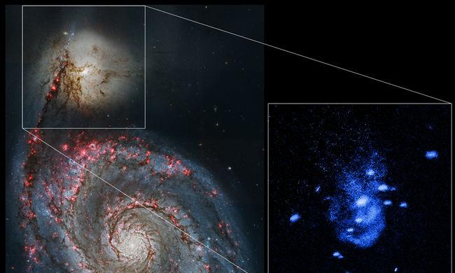 Hatalmas gázhullámokat bocsátott ki egy közeli fekete lyuk