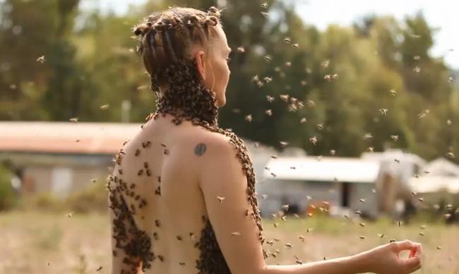 12 ezer méh volt a nő mellén, miközben táncolt - videó