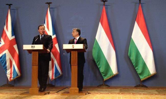 Orbán Viktor és David Cameron sajtótájékoztatója