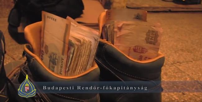 Videó: még a cipőjükben is pénz volt a drogterjesztő testvéreknek