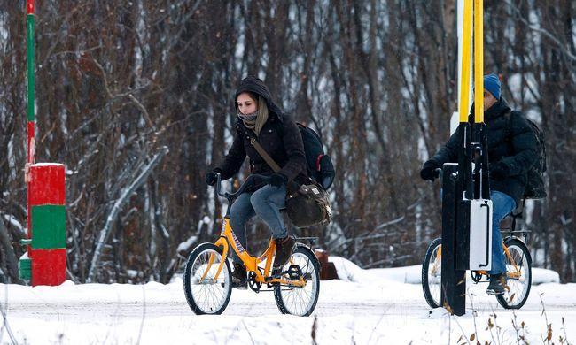 Nem bicikliznek többet a migránsok a -23 fokban