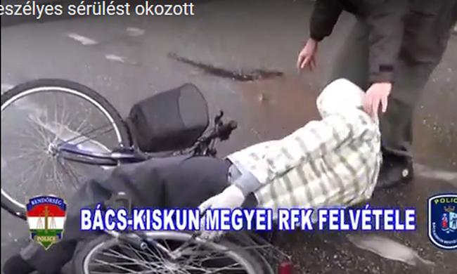 Utánafutott és lelökte a bicikliről - videó