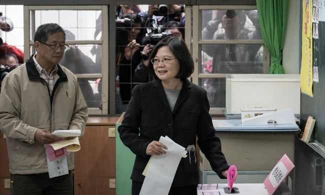 Először lett nő az elnök Tajvanon