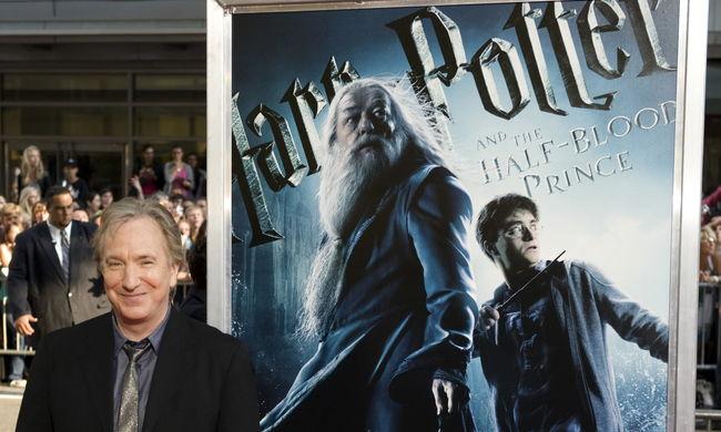 A titok, amit a Harry Potter írója árult el Alan Rickman-nek