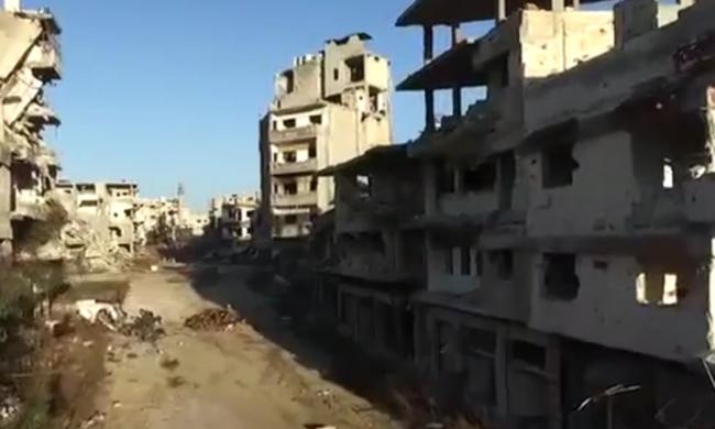 Elképesztő drónvideó: így néz ki egy város a háború kellős közepén
