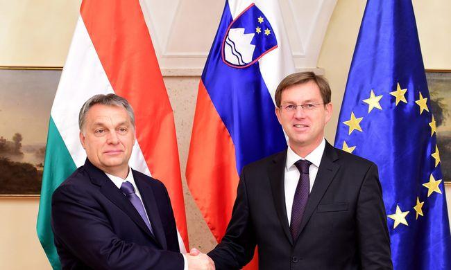 Orbán a migránsok megállításáról tárgyalt Szlovéniában