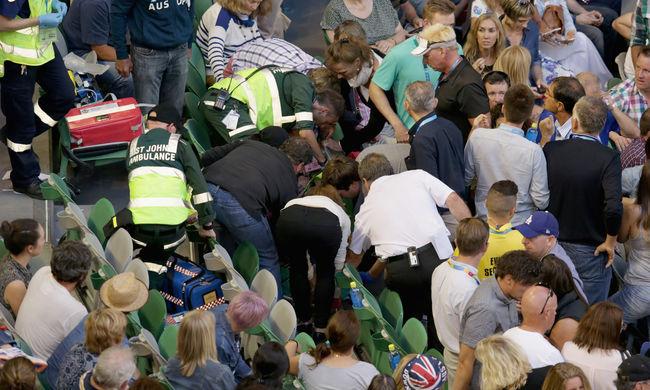 Meccs közben lett rosszul a teniszsztár apósa, kórházba vitték