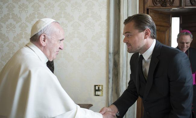 Ferenc pápa találkozott Leonardo DiCaprióval
