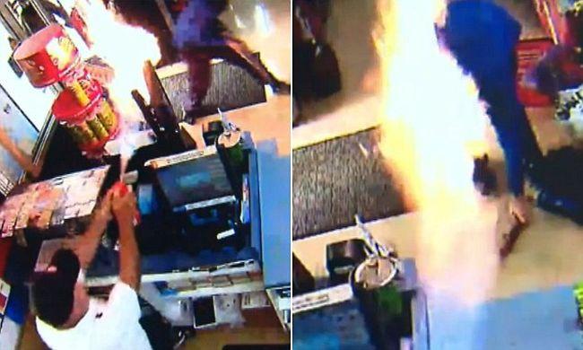 Ki akarták rabolni, lángszóróval védte meg magát - videó