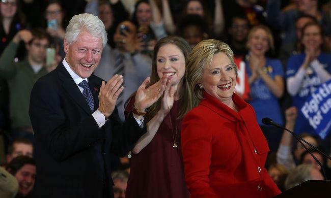 Hillary Clinton és a harmadik, Marco Rubio az esélyes elnökjelölt