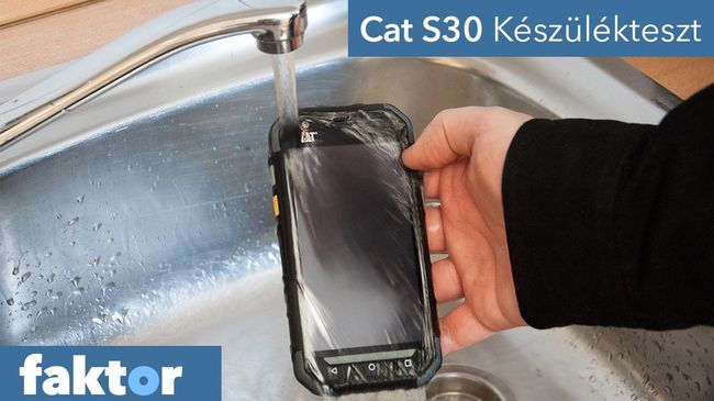Megkínoztuk, víz alá nyomtuk, mindent túlélt - Cat S30 teszt videóval