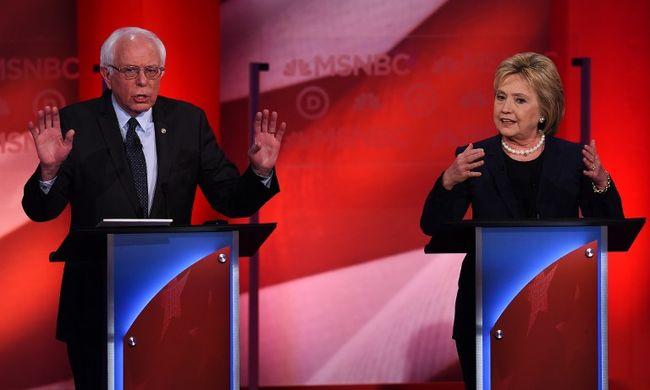 Clintonnak kevesebb pénz jött be az adományokból, mint Sandersnek
