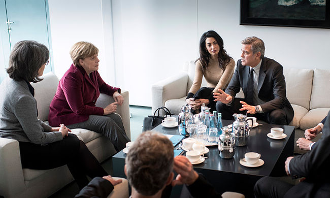 Angela Merkel fogadta George Clooney-t